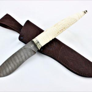 Ножи из дамасской стали, рукоять - рог лося
